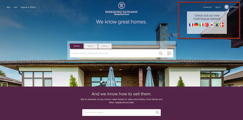 Berkshire Hathaway Home Services Website