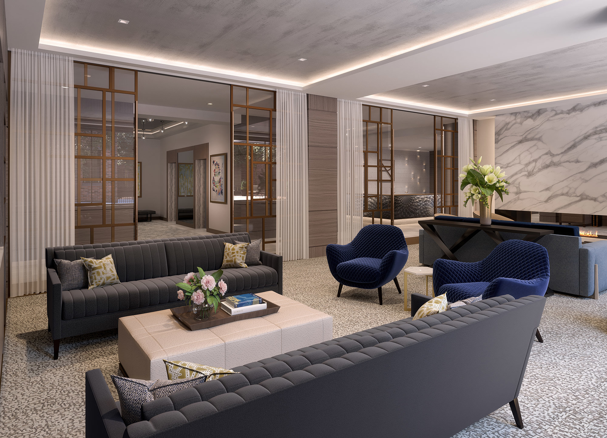 archer residences club room